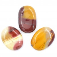 Pack of 3 Mookaite Crystal Palm Stones