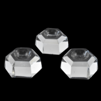 Glass Hexagon small pk3 Crystal Ball Stand wholesale stones australia