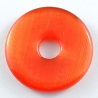 Wholesale Crystals Australia Online Crystal Jewellery Pendant Donut Cat Eye Red