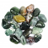 Australia Crystals Wholesale Natural Crystal Tumbled Green Moss Agate