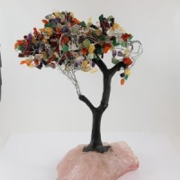 Crystal Tree Rainbow on Rose Quartz Base Melbourne Australia
