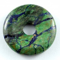 Wholesale Crystals Australia Online Crystal Jewellery Pendant Donut Azurite Malachite