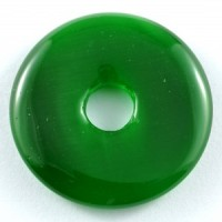 Wholesale Crystals Australia Online Crystal Jewellery Pendant Donut Cat Eye Green
