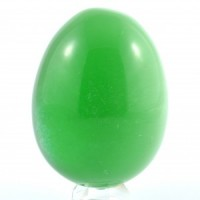 Crystal Wholesale Crystal Carvings Natural Shape Egg Cat Eye Green