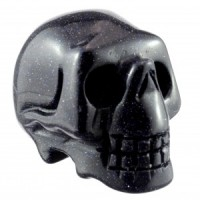 Crystal Carvings Australia Wholesale Crystal Skull Goldstone Blue