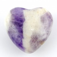 Australia Crystals Wholesale Natural Crystal Carvings Heart Amethyst Chevron