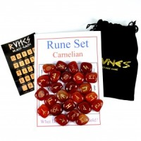 Wholesale Crystals Natural Polished Engraved Stone Rune Set Carnelian