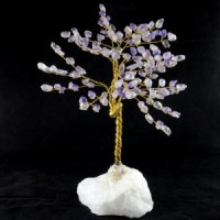 Wholesale Natural Crystals Australia Crystal Tree Amethyst on clear quartz base