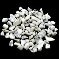 Howlite White Tumbled Stones crystals and stones wholesale