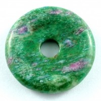 Wholesale Crystals Australia Online Crystal Jewellery Pendant Donut Ruby in Fuschite