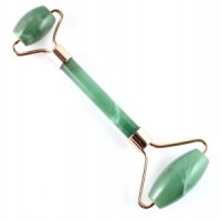 Wholesale crystals massage facial roller wand green aventurine