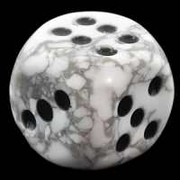 White Howlite Dice Engraved Stone Sets wholesale rocks and crystals