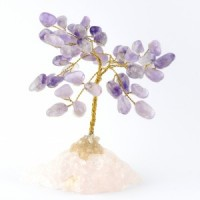 Wholesale Natural Crystals Australia Crystal Trees amethyst on rose quartz