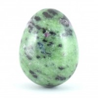 wholesale crystals stones ruby in zoisite eggs (5)