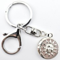 Crystal Keyring Sun and Moon Wholesale Stones Australia