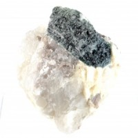 Natural Online Crystals  Rough Blue Tourmaline on Quartz with Mica