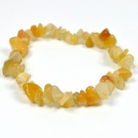 Crystals Wholesale Natural Crystal Chipped Bracelet Yellow Jasper