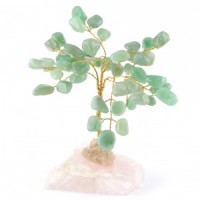 Wholesale Natural Crystals Australia Crystal Trees green aventurine on rose quartz
