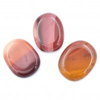 Pack of 3 Red Mookaite Crystal Palm Stones