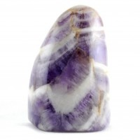 Australia Crystals Wholesale Crystal Carving Freeform Shape amethyst chevron
