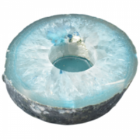 Teal Agate Flat Tealight Gifts natural crystal wholesale