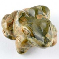 wholesale rocks and stones Crystal Carving Animal Frog Rhyolite