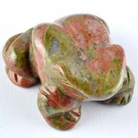 wholesale crystals australia Crystal Carving Animal Frog Unakite