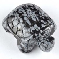 wholesale rocks and stones Crystal Carving Animal Turtle Obsidian Snowflake