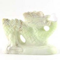 Tumbled Stone Wholesale Crystal Carving Dragon Lemon Chrysoprase