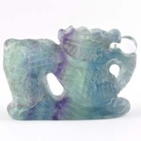 Wholesale Rocks and Crystals Crystal Carving Dragon Rainbow Fluorite