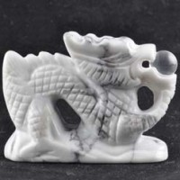 Wholesale Crystals Stones Crystal Carving Dragon Howlite White