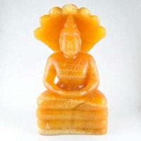 Crystal Wholesalers Crystal Carving Large Buddha Orange Calcite(6)