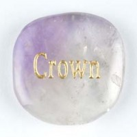 Crystal Carving Word Stone Crown