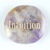 Crystal Carving Word Stone intuition