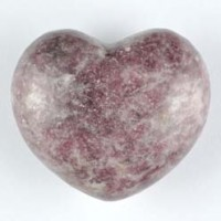 Crystal Carvings Healing Shapes Heart Lepidolite Pink