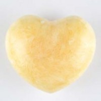 Crystal Carvings Healing Shapes Heart Calcite Yellow