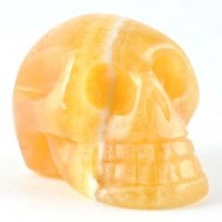 Natural Crystal Wholesale Crystal Skull Orange Calcite