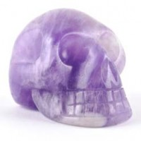 Wholesale Rocks and Stones Crystal Skull Amethyst Chevron