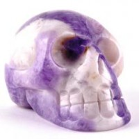 Crystals and Stones Wholesale Crystal Skull Amethyst Chevron