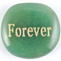 Crystal wordstone forever aventurine green