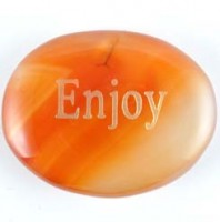 Crystal wordstone enjoy carnelian