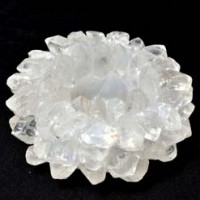 Crystals and Stones Wholesale Australia Natural Crystal Tea Light Holder Clear Quartz