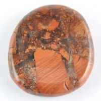 crystals and stones wholesale Flatstone Freeform Worry Stone Jasper Breciated