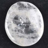 wholesale crystals for sale Flatstone Freeform Worry Stone Clear Quartz