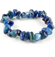 Jewellery Bracelets Tumbled Agate Blue