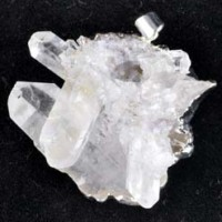 Jewellery Pendant Clear Quartz Cluster