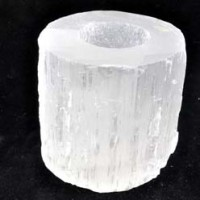 Wholesale Crystals For Sale Natural Crystal Tea Light Holder Selenite White Natural