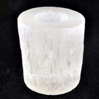 Buy Wholesale Crystals Natural Crystal Tea Light Holder Selenite White Medium