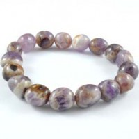 Natural Crystals Wholesale Australia Jewellery Tumbled Bracelets Amethyst Chevron 003