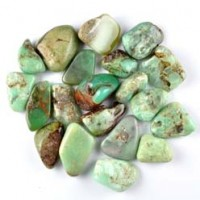 Natural Crystals Wholesale Australia Tumbled Chrysoprase Green